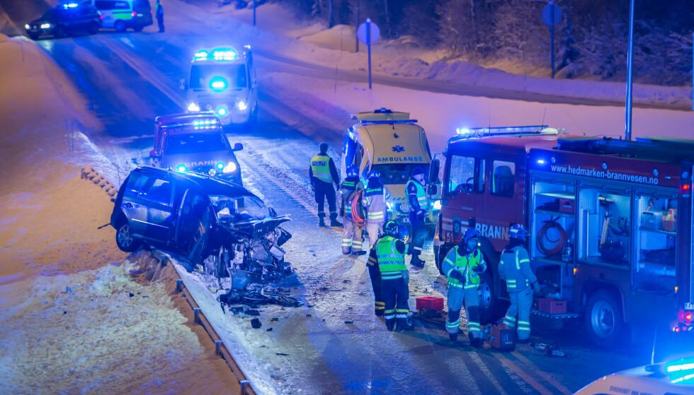 FRONTKOLLISJON: Sigvart Dagsland er alvorlig skadd etter at han og to av hans bandkollegaer frontkolliderte med en annen bil tirsdag kveld. Foto: Lars Bryhn