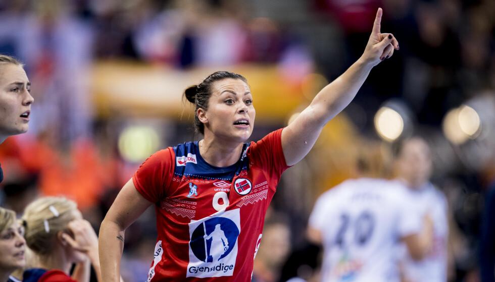 Hamburg, Tyskland 20171217. En aktiv Nora Mørk under finalen mellom Frankrike og Norge (23-21). Foto: Vidar Ruud / NTB scanpix