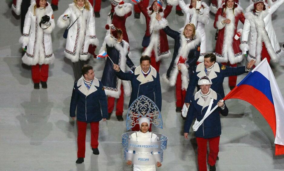 MOT FULL TROPP: Russerne har bare fått strøket 111 utøvere i en OL-pool på rundt 500. Det betyr at IOC kommer til å godkjenne en tilnærmet full russisk tropp i Pyeongchang, og i praksis oppheve utestengelsen av Russland. Det skjer under full hemmelighet. FOTO: AFP/ Yuri Kadobnov.