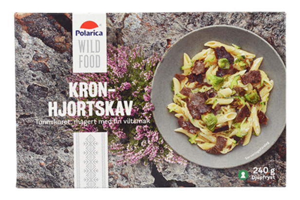 VILLEDENDE: Vill, svensk hjort? Ikke helt. På baksiden av pakken opplyses det at kjøttet er oppdrettshjort fra New Zealand. Årets største matbløff, mener svenske forbrukere. Foto: Äkta Vara