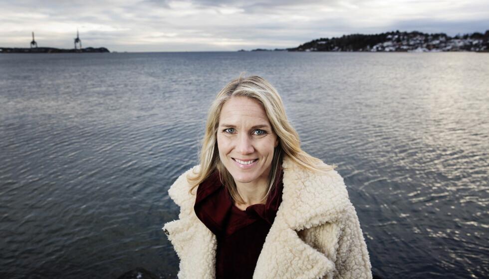 GRAVID: Gro Hammerseng-Edin venter sitt andre barn sammen med ektefellen Anja Hammerseng-Edin. Foto: Henning Lillegård / Dagbladet .