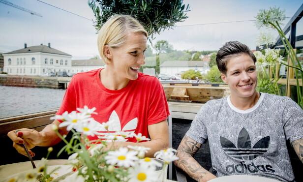 BLIR TOBARNSFORELDRE: Gro Hammerseng-Edin og ektefellen Anja Hammerseng-Edin venter sitt andre barn sammen. Fra før av har de sønnen Mio. Foto: Bjørn Langsem / Dagbladet