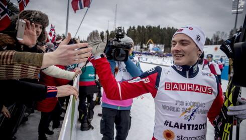 HØYT OPPE: Finn Hågen Krogh herjet i VM i Lahti 2017. Den påfølgende sesongen ble et mareritt. Foto: Bjørn Langsem / Dagbladet