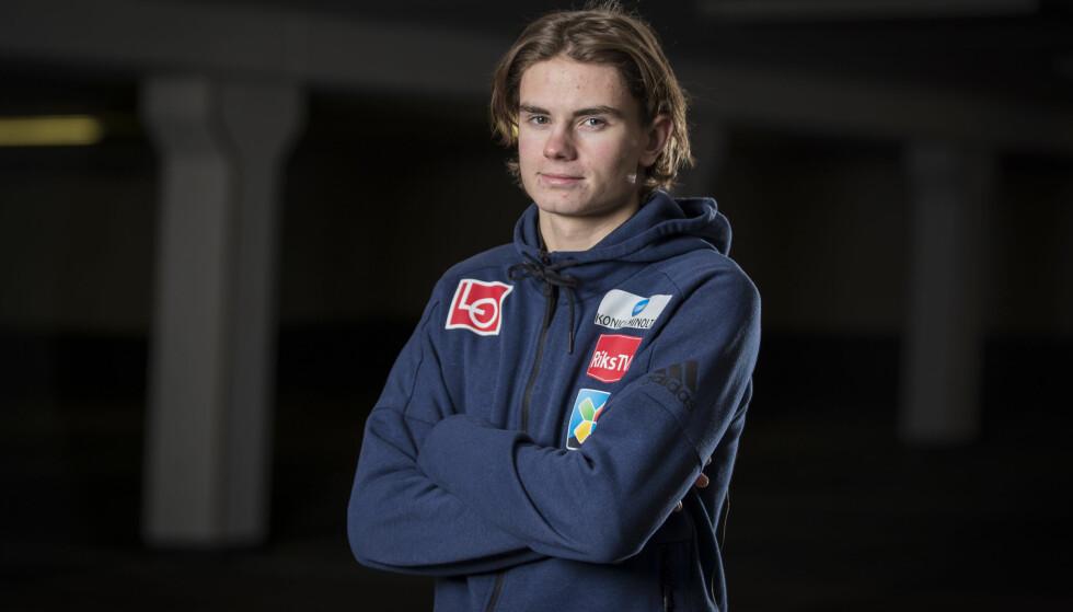 STORTALENT: Marius Lindvik er det største talentet i Hopp-Norge. Foto: Heiko Junge / NTB scanpix