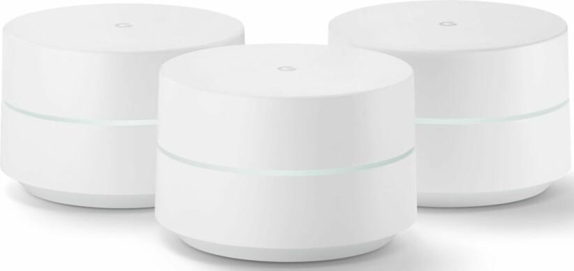 MESH-SYSTEM: Google Wifi omtales som markedets beste wifi-system, med flott design og superenkel installasjon.