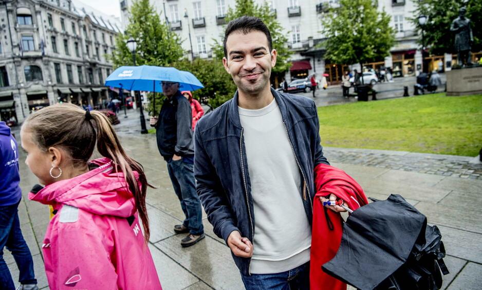 Går av: Mani Hussaini har vært leder for AUF siden 2014. Nå avslører han at han ikke kommer til å stille til gjenvalg til høsten. Foto: Thomas Rasmus Skaug / Dagbladet