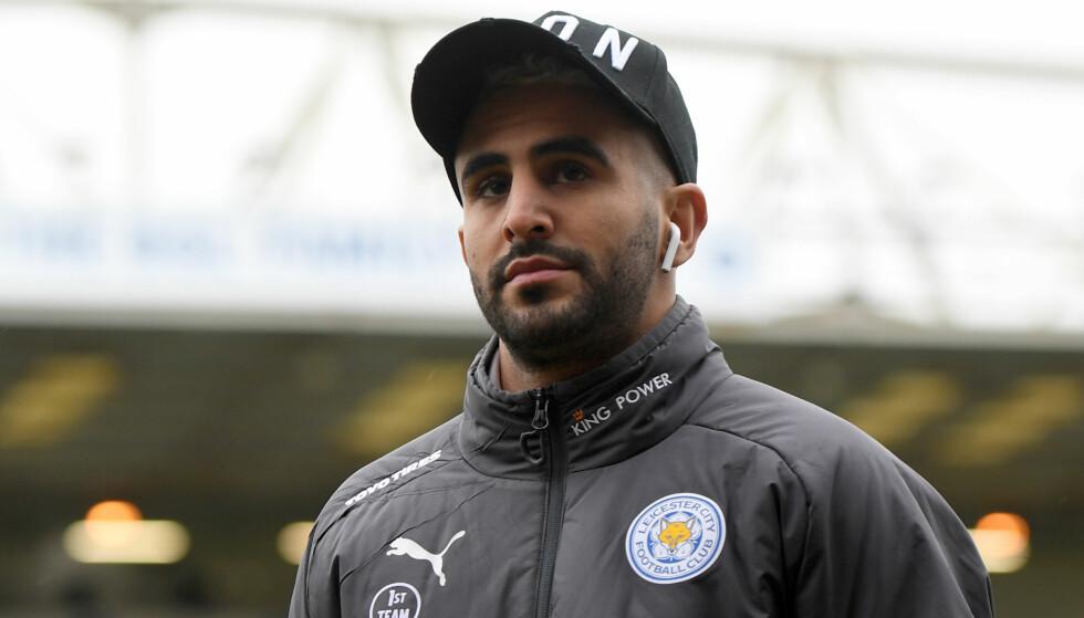 MISFORNØYD: Riyad Mahrez er ikke med i Leicester-troppen som møter Swansea lørdag. Foto: NTB Scanpix