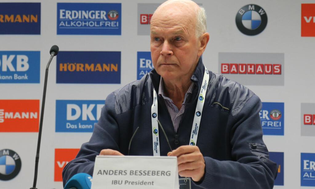 <p>FERDIG: Anders Besseberg trakk seg i dag som IBU-president. Kritikken er massiv, men i Russland får han støtte. Foto: Terje Pedersen / NTB scanpix<br> </p>