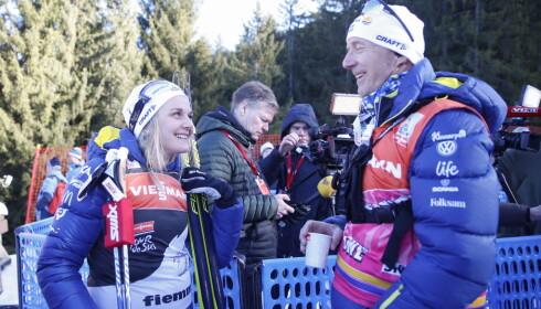 FORHOLD: Stina Nilsson likte godt Ole Morten Iversen som trener. Iversen lovte Nilsson å heie på de svenske jentene fra sofaen neste sesongen, men nå går ikke det. Foto: Terje Pedersen / NTB scanpix