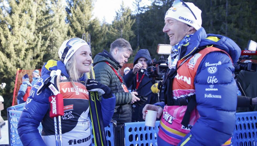 UTVIKLET EN VINNER: Stina Nilsson har tatt store steg med Ole Morten Iversen som svensk trener. Så store at det er fint å hente ham hjem igjen. FOTO: Terje Pedersen/NTB Scanpix