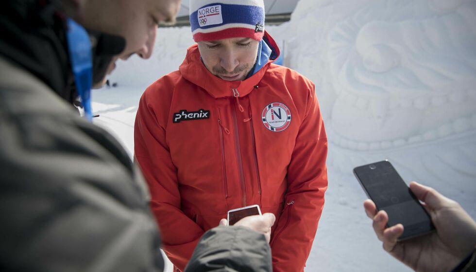 DROPPER BARIS: Emil Hegle Svendsen er norsk flaggbærer og lover at han ikke skal komme med noen overraskelser inne på OL-stadion i Pyeongchang. Foto: Bjørn Langsem / Dagbladet