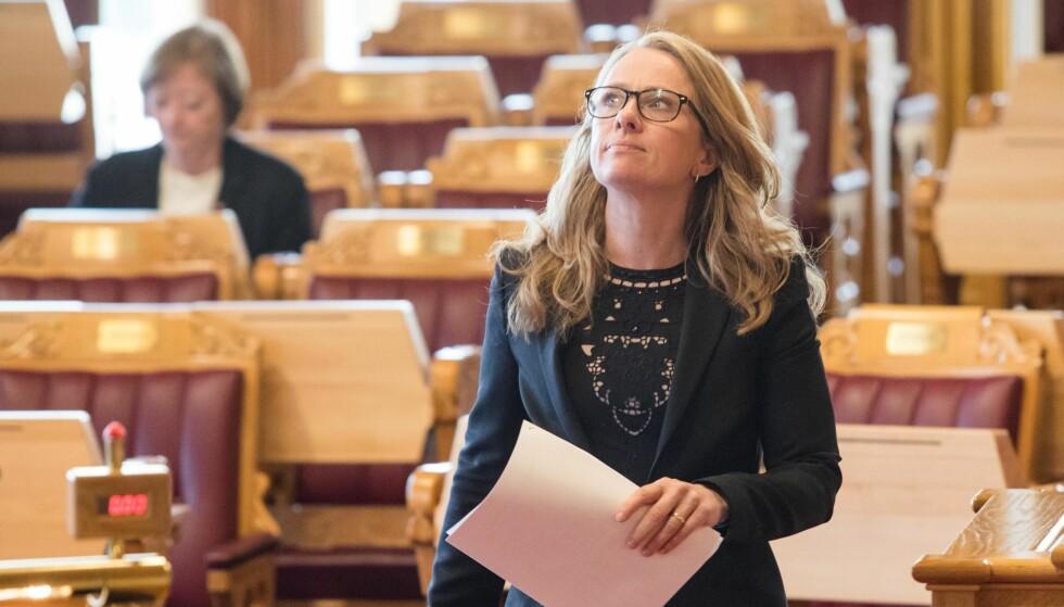 Har en jobb å gjøre: Arbeidsminister Anniken Hauglie (H) må prioritere kampen mot kriminalitet i arbeidslivet. Foto: Audun Braastad / NTB scanpix