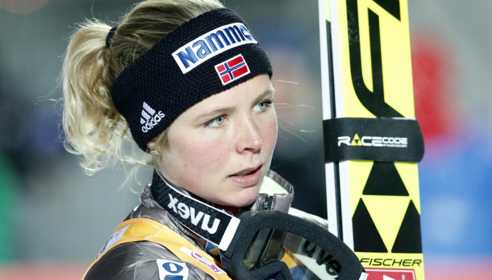 VERDENS BESTE: Maren Lundby, her fra en av mange verdenscupseirer på Lillehammer. Foto: NTB Scanpix