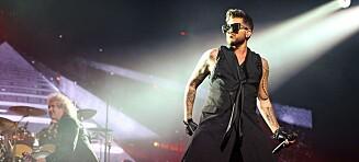 Queen med Adam Lambert til Norge
