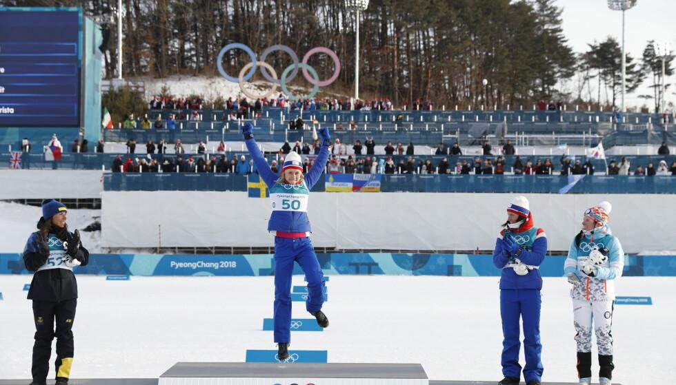 OL-GULL: Ragnhild Haga vant OL-gullet på 10 kilometer fristil i Pyeongchang. Foto: Bjørn Langsem / Dagbladet
