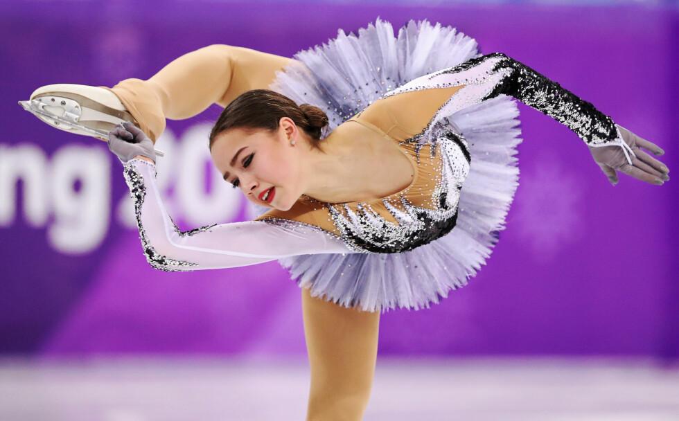 OL-YNDLING: Alina Zagitova var bare 15 år da hun vant OL-gull. Nå er hun Russlands nest mest populære idrettsutøver på plassen foeran Aleksandr Bolsjunov. FOTO: REUTERS/Lucy Nicholson