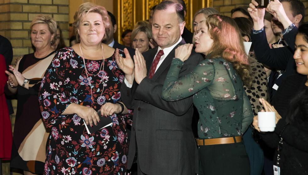 BYGGEBRÅK: Olemic Thommessen (H) var Erna Solberg valg som stortingspresident. Flere partier på Stortinget har ikke tillit til ham etter den siste budsjettsprekken i byggeskandalen. Foto: Berit Roald / NTB scanpix