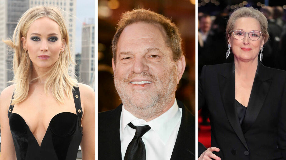 RASER: Jennifer Lawrence og Meryl Streep er lite fornøyde med at Harvey Weinstein blander dem inn i søksmålet. Foto: NTB Scanpix