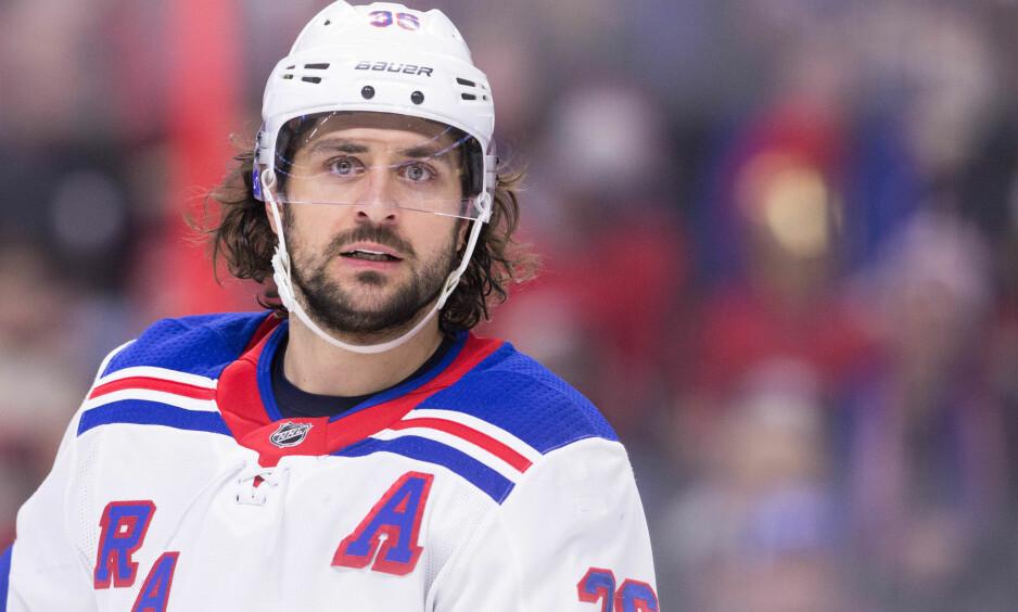 TAPTE: Mats Zuccarello og New York Rangers tapte i NHL natt til søndag. Foto: Daniel Lea/CSM/REX/Shutterstock