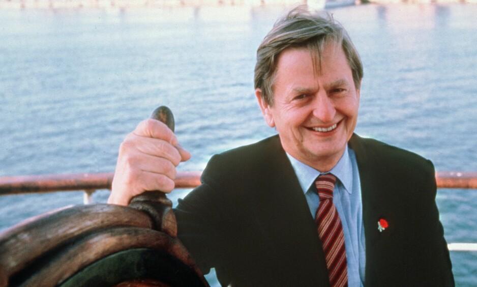 DREPT: Den svenske statsministeren Olof Palme ble skutt og drept på åpen gate i Stockholm 28. februar 1986. Foto: AFP / NTB Scanpix