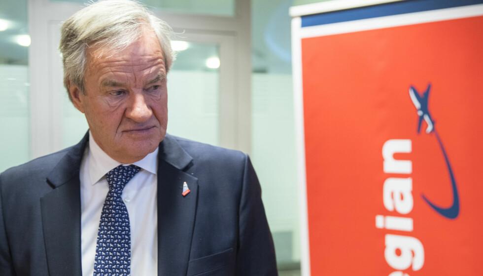 MULIG SALG: Konsernsjef Bjørn Kjos kan bli tvunget til å selge Norwegian. Foto: Vidar Ruud / NTB scanpix