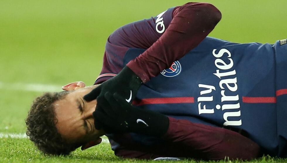 SKADET: Neymar. Foto: NTB Scanpix
