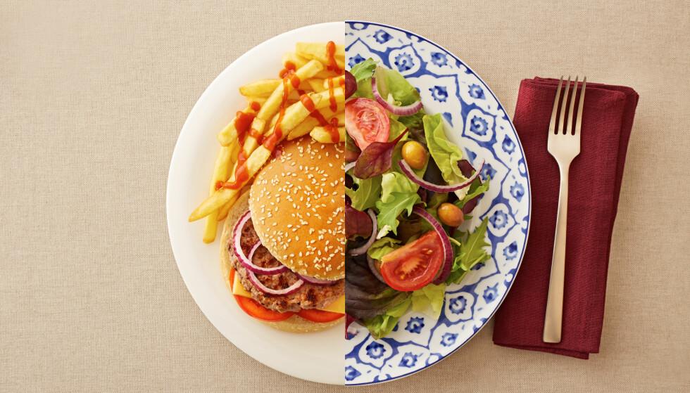 FÅR DEG NED I VEKT: En ny studie viser at personer som ble satt på en karbohydrat- eller fettredusert diett gikk like mye ned i vekt etter ett år. Det som virkelig avgjør om du går ned i vekt, er en annen faktor, ifølge eksperter vi har snakket med. (Foto: Martiapunts / Shutterstock / NTB scanpix)