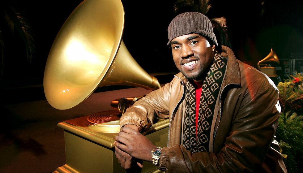 <strong>ENORM SUKSESS:</strong> I 2004, to år etter sitt store gjennombrudd, fikk Kanye West hele ti Grammy-nominasjoner. Foto: NTB scanpix