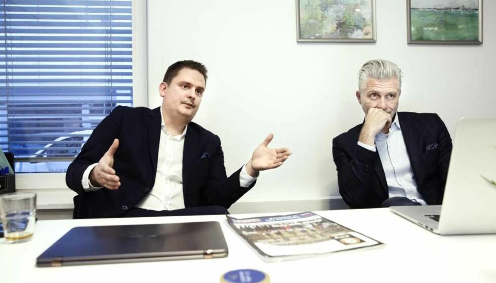 - BUNNSOLIDE: - Vi er bunnsolide, sier Kraft1-eier Thommy Stenvik (t.v.), her sammen med daglig leder og styreleder Christophe Drouillet. Foto: Henning Lillegård