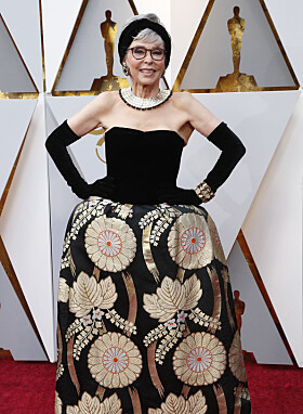 NÅ: Rita Moreno under årets Oscar-utdeling. Foto: NTB Scanpix