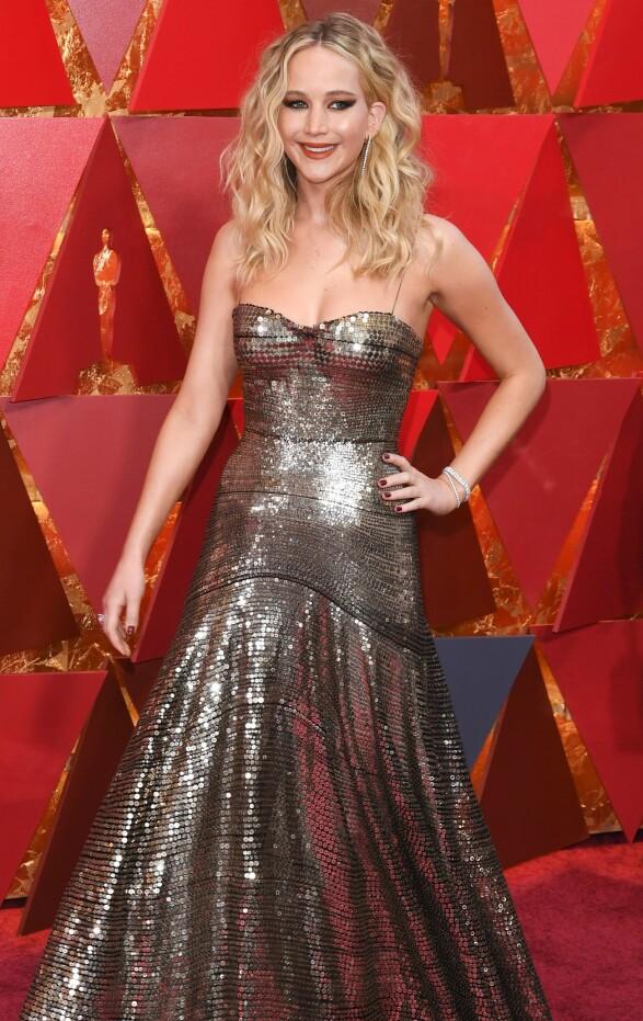 OSCAR-UTDELINGEN: Jennifer Lawrence. Foto: NTB Scanpix