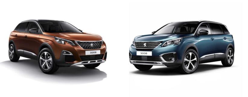 BIL I SOMMER: Familiene som plukkes ut får prøve enten en Peugeot 3008 eller storebroren 5008 i sommer. Foto: Peugeot