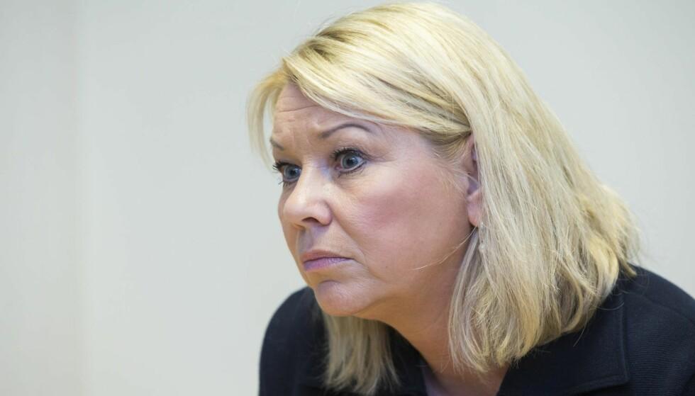 BRUDD I FORHANDLINGENE: Kommunal- og moderniseringsminister Monica Mæland (H). Foto: NTB Scanpix