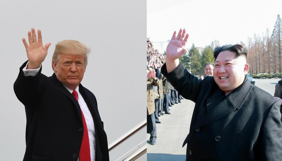 I DIALOG? Donald Trump og Kim Jong-un uttrykker fra begge sider at de ønsker dialog, men klarer de å få tillit til hverandre? Foto: Scanpix