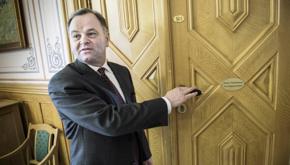 VARSLET IKKE: Olaf Michael «Olemic» Thommessen sa torsdag morgen ingenting om at han bare minutter etter skulle gå av som stortingspresident. Foto: Lars Eivind Bones / Dagbladet