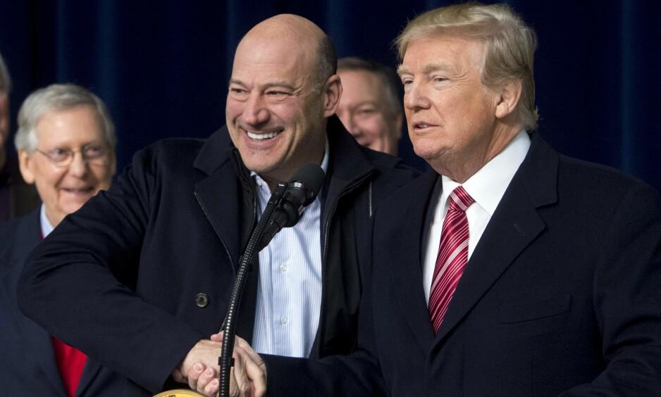 SIER OPP: Gary Cohn blir med det den siste i en stadig lengre rekke profilerte rådgivere som forlater Det hvite hus. Bildet er fra en annen anledning. FOTO: NTB Scanpix / AFP