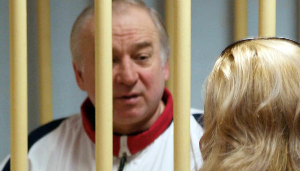 SVERGET HEVN: Tirsdag ble den russiske eksspionen Sergei Skripal funnet bevisstløs. Kort tid etter ble et TV-klipp av Russlands president, Vladimir Putin, spredt på nettet. Foto: AFP / NTB scanpix