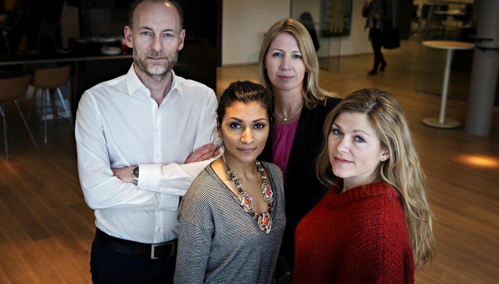 Jury: Knut Olav Åmås, Ratna E. Kamsvåg, Mina Gerhardsen og Martine Aurdal har kåret tolv av landets beste talere. Foto: Frank Karlsen / Dagbladet
