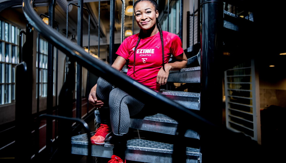 SELVSIKKER: Oppturen i innendørs-VM gjorde Ezinne Okparaebo full av selvtillit. Nå er hun veldig motivert - og ser fram mot OL i 2020 som det store målet. Foto: Thomas Rasmus Skaug / Dagbladet