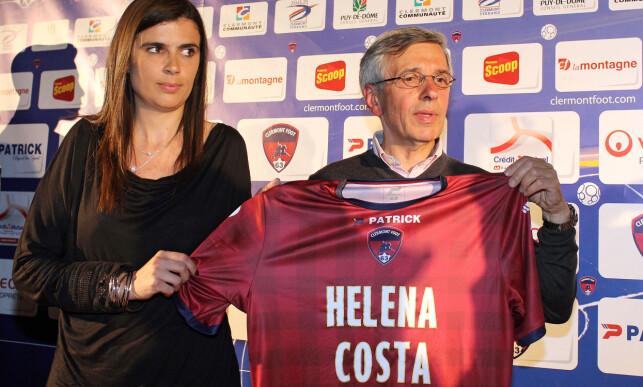 SKILTE LAG: Helena Costa sammen med klubbpresidenten Claude Michy. Foto: NTB Scanpix