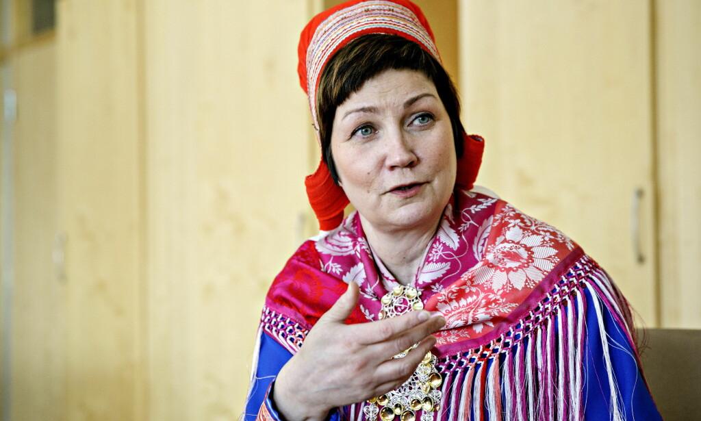 MOT EN FINNMARK-STAT: Aili Keskitalo er mot tanken om at Finnmark bør løsrive seg framfor å slå seg sammen med Tromsø. Foto: Nina Hansen / DAGBLADET