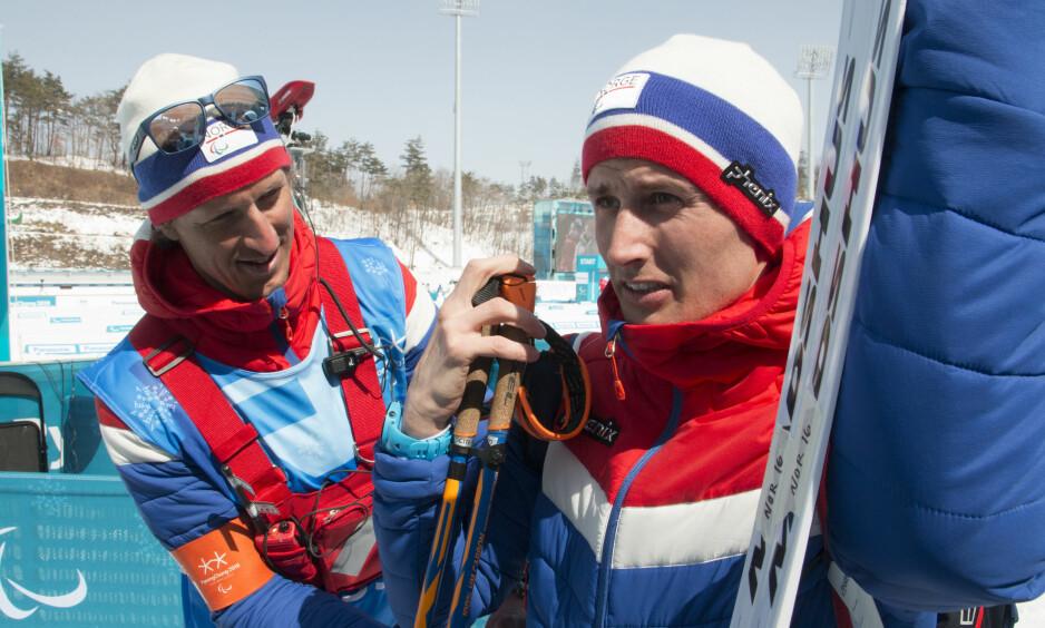 FORDEL?: Nils Erik-Ulset og Lars Berger tror de norske utøverne kan få en fordel av det varme været som venter i Pyeongchang. Foto: Geir Owe Fredheim / Norges Idrettsforbund