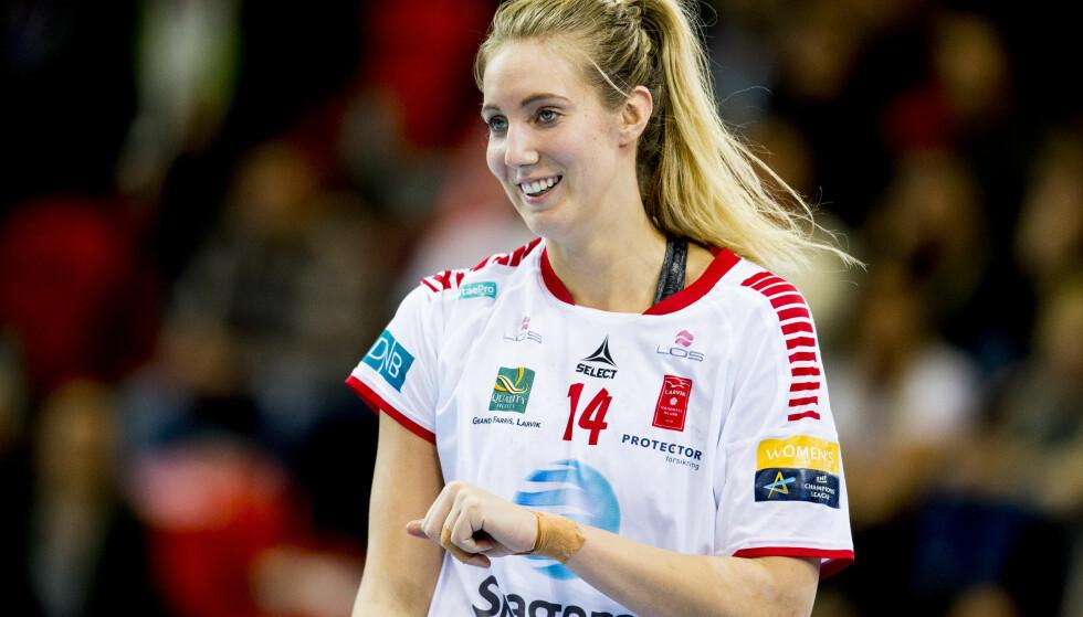 TOPPSCORER: Kristine Breistøl ble toppscorer for Larviks håndballjenter. Foto: Vegard Wivestad Grøtt / Bildbyrån