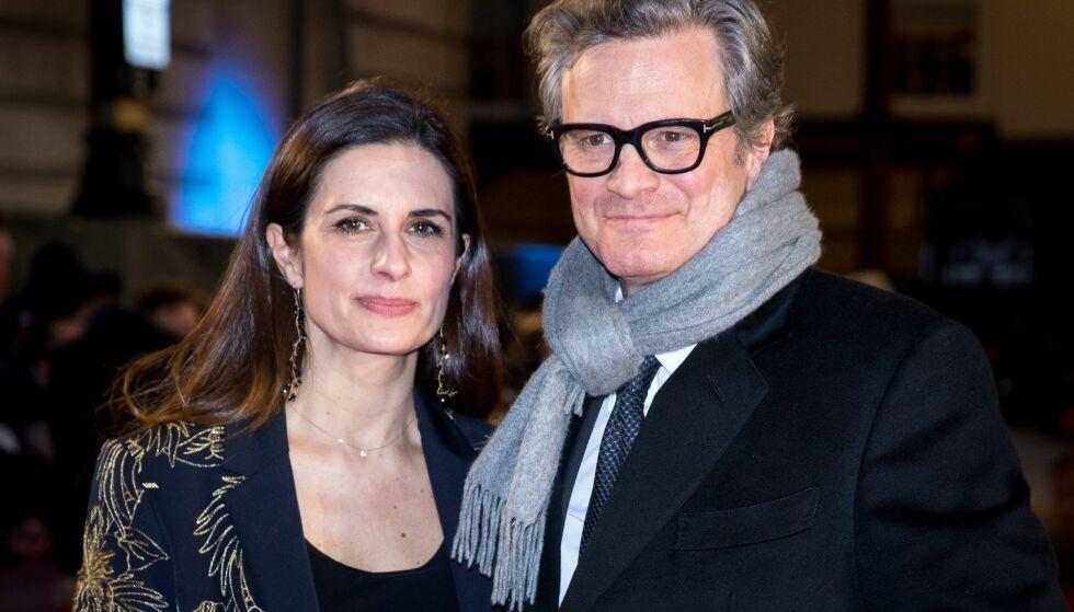 OFFENTLIG SKITTENTØYVASK: Den britiske skuespilleren Colin Firth, sammen med sin italienskfødte filmprodusentkone Livia Giuggioli, har etter mange spekulasjoner og rykter valg å gå ut med en offentlig uttalelse til pressen. Foto: NTB Scanpix