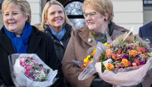 KRANGEL: Erna Solberg hevder Listhaugs innlegg på Facebook er en krangel mellom Frp og Ap. Foto: NTB scanpix