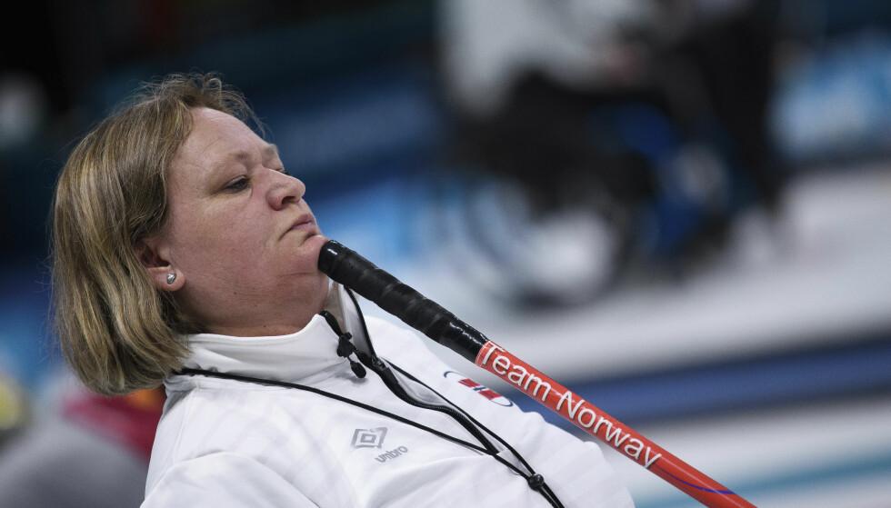 SEIER: Sissel Løchen representerer Norge i rullestolcurling i Sør-Korea. Foto: Joel Marklund / OIS / IOC via AP / NTB scanpix