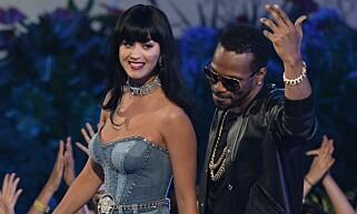 «Dark Horse»-duett: Katy Perry og Juicy J. Foto: NTB scanpix
