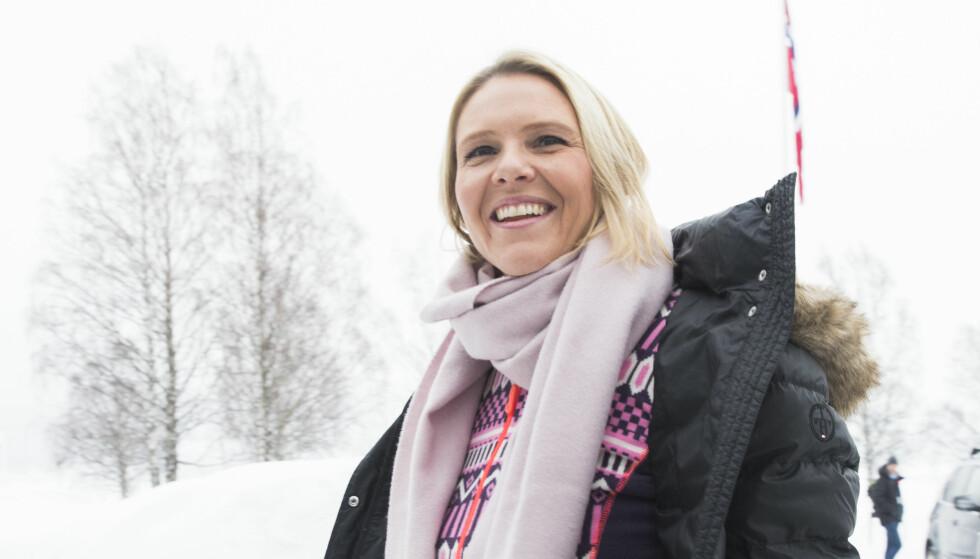 PÅ HURDAL: Det har stormet rundt Justis-, beredskaps- og innvandringsminister Sylvi Listhaug (FrP) som de siste dagene har sittet i regjeringsforhandlinger på  Hurdalsjøen hotell. Foto: Berit Roald / NTB scanpix