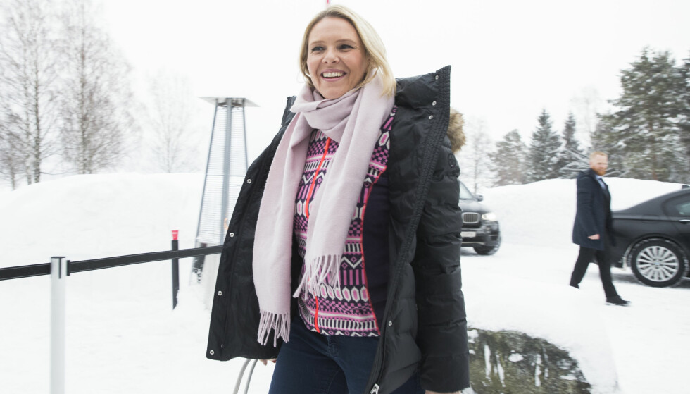UNNSKYLDER SEG: Sylvi Listhaug sier det aldri var meningen å koble inn massakren på Utøya. Foto: Berit Roald / NTB scanpix
