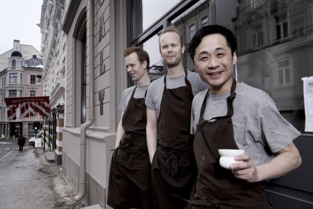 SMAKSPANELET: Fredrik Hettervik, Jo Bøe Klagegg og Björn Svensson. Foto: Lars Eivind Bones